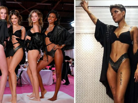 The Victoria's Secret models getting ready backstage is basically every girl's dream