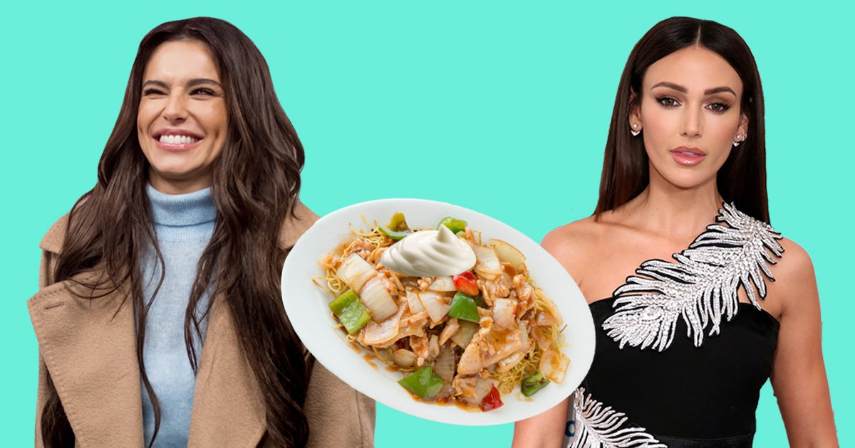 Why would Michelle Keegan eat Chow Mein with mayonnaise? Cheryl's disgusted and so are we