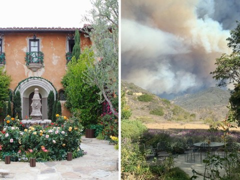 The Bachelor mansion burned by California wildfires as blaze spreads