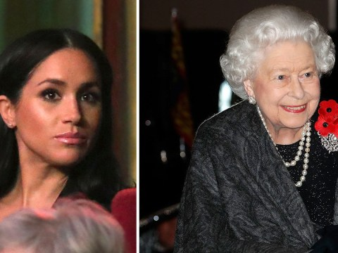 Pregnant Meghan joins a chilly Queen for Festival of Remembrance