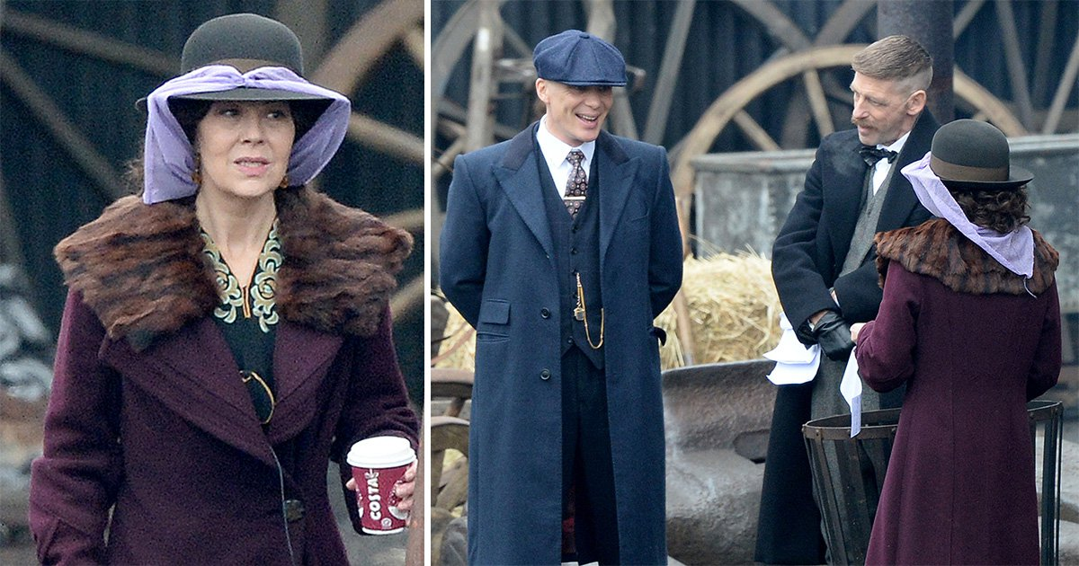 Peaky Blinders series 5: Cillian Murphy and Helen McCrory brave the Birmingham cold for intense scenes
