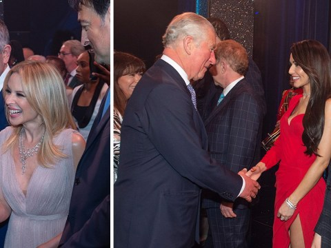 Prince Charles was in pop heaven meeting Cheryl and Kylie Minogue at 70th birthday concert