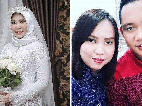 Fiancee takes wedding pictures alone after her husband-to-be was killed in Lion Air plane crash