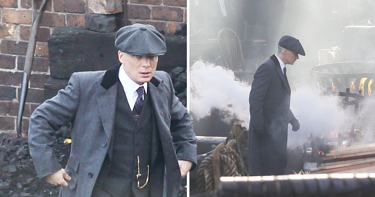 Cillian Murphy and Paul Anderson have brotherly bonding time as they shoot Peaky Blinders scenes in the Black Country