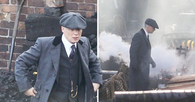 99b07be519135 Cillian Murphy and Paul Anderson have brotherly bonding time as they shoot Peaky  Blinders scenes in the Black Country