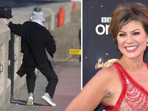 Strictly Come Dancing's Kate Silverton takes a tumble days ahead of Blackpool performance