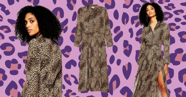 a858bc73b2d440 Topshop launches its sell out snakeskin midi dress in leopard print ...