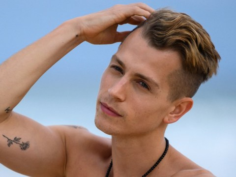 James McVey poses up for cheesy topless boyband shots on ahead of I'm A Celebrity Get Me Out Of Here!