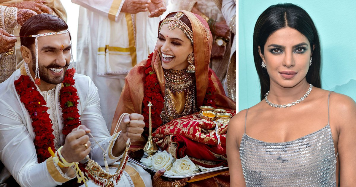 Priyanka Chopra fangirls over Deepika Padukone and Ranveer Singh's 'insanely beautiful' wedding photo