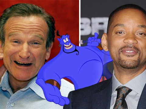 Will Smith is 'terrified' to follow Robin Williams' performance as Genie in Aladdin