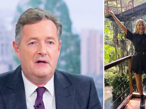 Piers Morgan accuses Holly Willoughby of flashing her 'sizzling legs' for attention on I'm A Celebrity