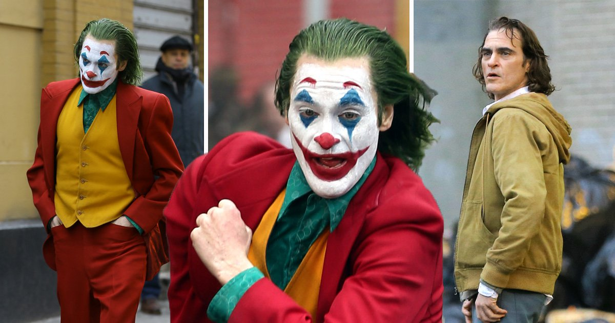 The Joker's Joaquin Phoenix gets struck by a taxi in stunt scene as he reveals glimpse of full costume