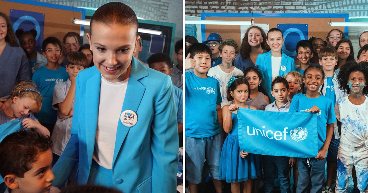 Millie Bobby Brown is UNICEF's newest and youngest Goodwill Ambassador