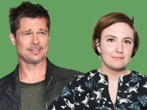 Brad Pitt cuddles Lena Dunham at her 33rd birthday party after filming Once Upon A Time In Hollywood