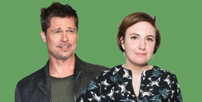 Brad Pitt and Lena Dunham pictured together