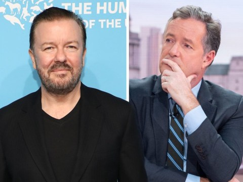 Ricky Gervais compares Piers Morgan and Ariana Grande/Little Mix feud to Tupac and Biggie
