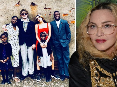 Madonna posts rare family snap of all six children as they celebrate Thanksgiving in Malawi