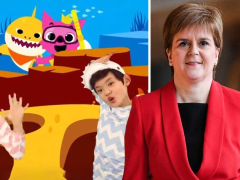 Nicola Sturgeon shows Theresa May she can dance too
