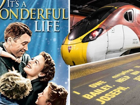 It's A Wonderful Life script is being painted on train platforms to help people struggling with mental health problems