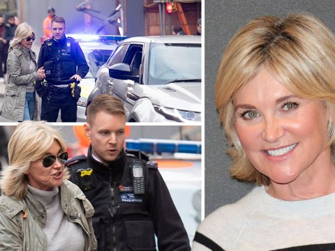 Anthea Turner pulled over by police after road incident with black cab driver