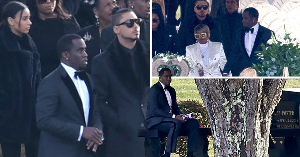 Diddy Sits Alone By Ex Kim Porter S Grave Site During