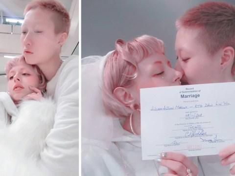 Jackie Chan's daughter marries girlfriend despite 'homophobic' parents