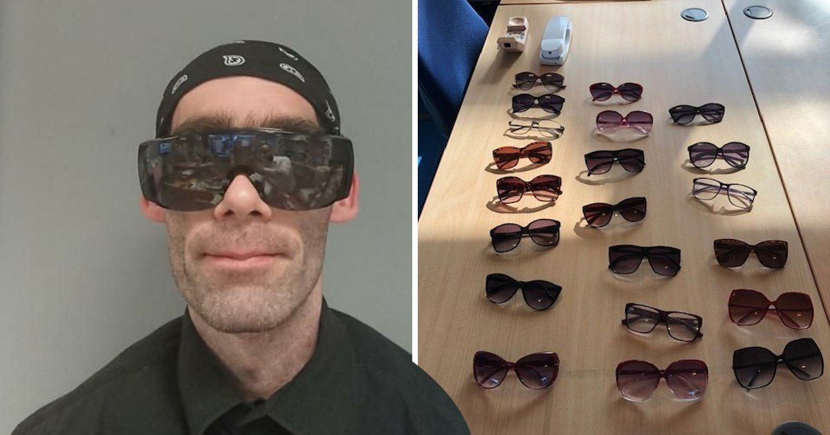 Man with glasses fetish forced woman to put on shades then pleasured himself