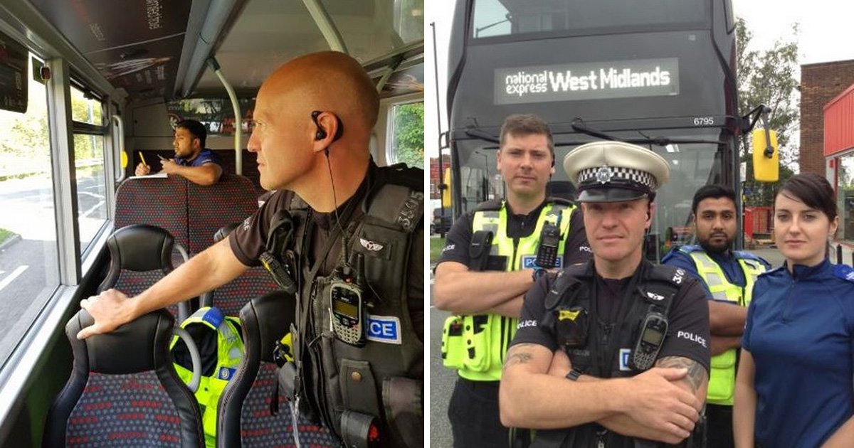 Drivers using phones caught out by police hiding on buses