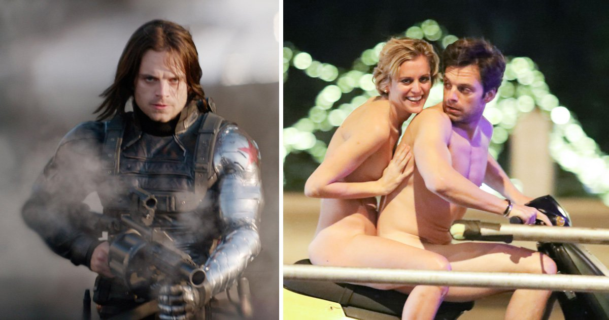 Avengers' Bucky Barnes is buck-naked as Sebastian Stan rides scooter around Athens in the nude