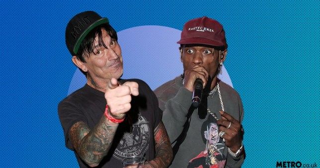 68aff495d9a6 Tommy Lee drags 'f***ing idiot' Travis Scott for 'ripping off' Astroworld  tour set design