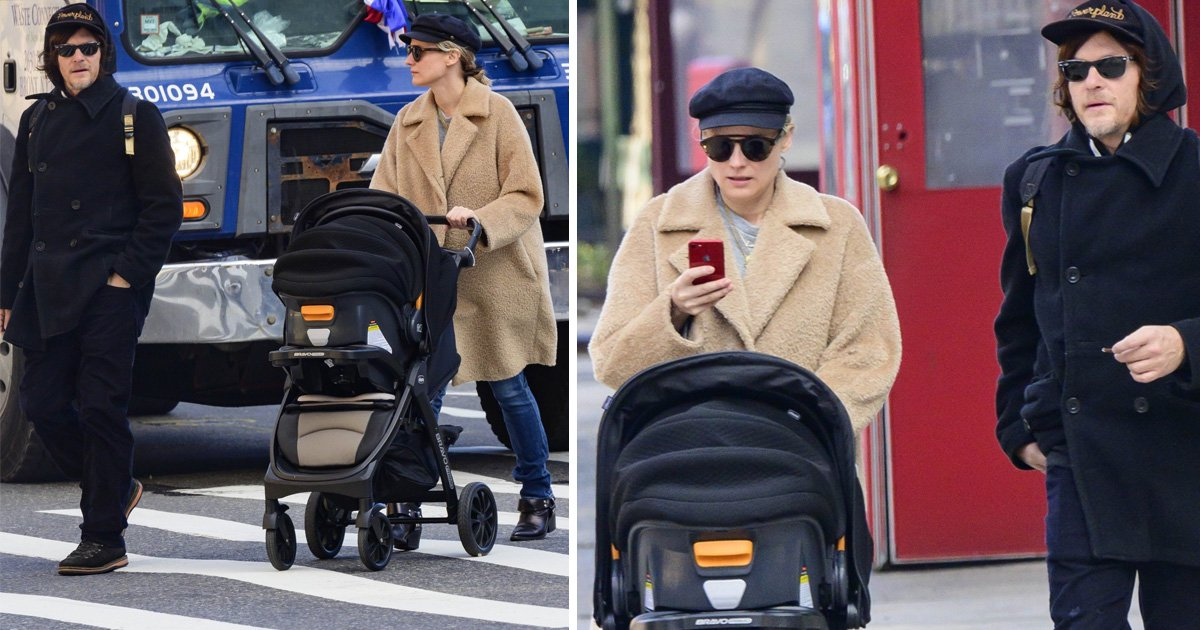 Diane Kruger and Norman Reedus spotted for the first time with new baby