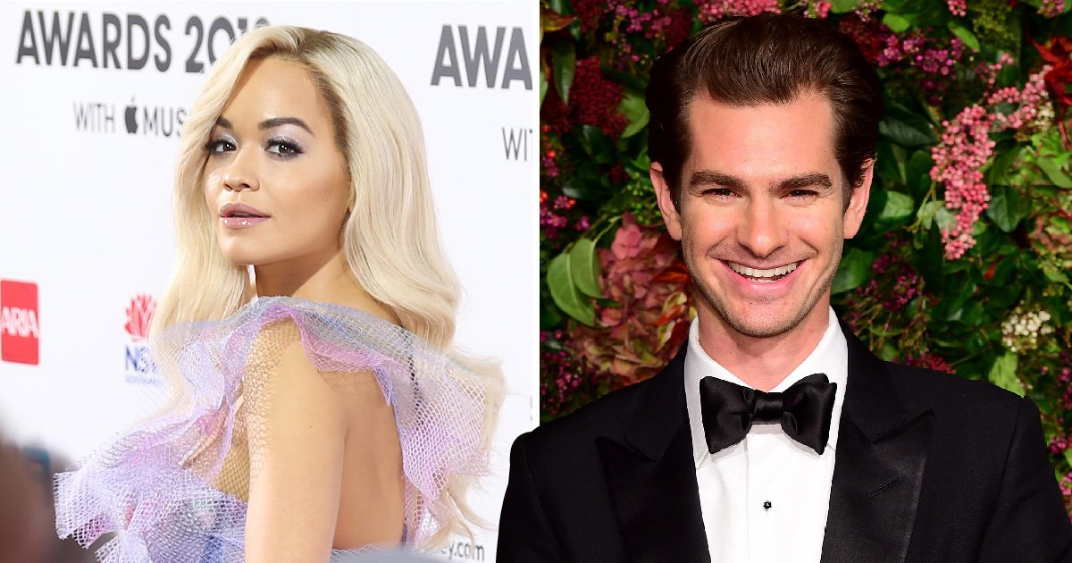 Rita Ora bursts into giggles as she's grilled on Andrew Garfield romance