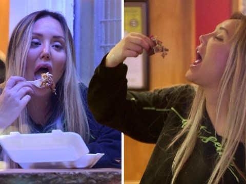 Charlotte Crosby is all of us as she tucks into kebab and cheesy chips after emotional Jessie J concert