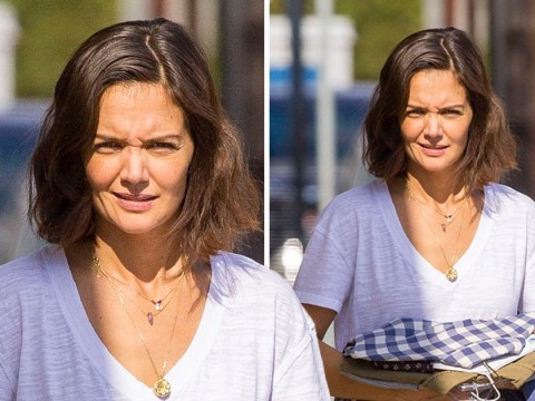 Katie Holmes beams on movie set days after Jamie Foxx wedding rumours