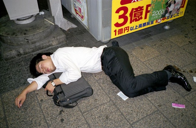 Legless Japanese businessmen: the photographer who caught a Tokyo epidemic Picture: Pawel Jaszczuk PERMISSION GRANTED FOR METRO.CO.UK