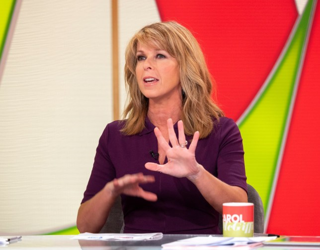 Editorial use only Mandatory Credit: Photo by Ken McKay/ITV/REX (9934077q) Kate Garraway 'Loose Women' TV show, London, UK - 16 Oct 2018 KATE GARRAWAY - HER 24 CHARITY JOB-ATHON She?s used to early starts and dealing with some big TV personalities on a daily basis, but how will the GMB presenter cope with her toughest challenge to date? Kate Garraway will have just completed her 24 hour ?Job Hop?, when she joins us on today?s show, with her final role as our audience warm up gal! The honorary Loose Woman will be telling the panel how she found the 24 different jobs - from being a sandwich maker to cleaning a shark tank, to scariest of all...being a runner for Piers Morgan. And she'll be telling us why she wants everyone to do something for smaller and forgotten charities.