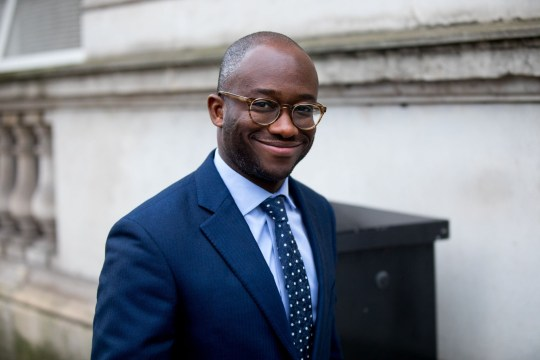 Mandatory Credit: Photo by Tom Nicholson/LNP/REX/Shutterstock (9310966ap) Prisons and Probation Minister Sam Gyimah arriving in Downing Street this morning. Cabinet meeting in Downing Street, Westminster, London, UK - 09 Jan 2018