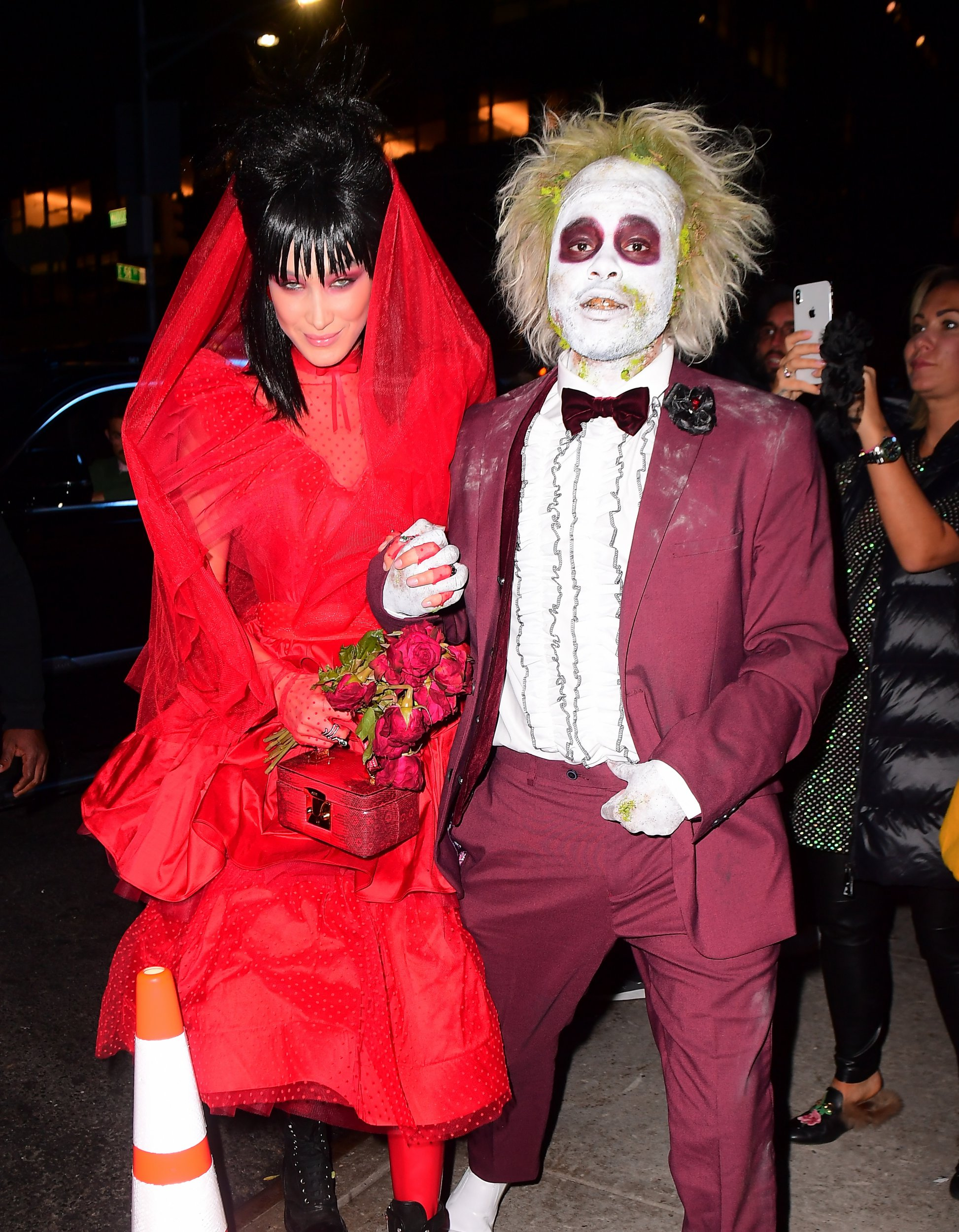 Bella Hadid And The Weeknd Chime Gothic Wedding Bells For Epic Beetlejuice  Costumes