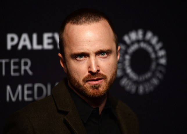 """BEVERLY HILLS, CA - DECEMBER 21: Actor Aaron Paul arrives at the Paley Center For Media's presentation of Hulu's """"The Path"""" Season 3 Premiere at The Paley Center for Media on December 21, 2017 in Beverly Hills, California. (Photo by Amanda Edwards/WireImage)"""