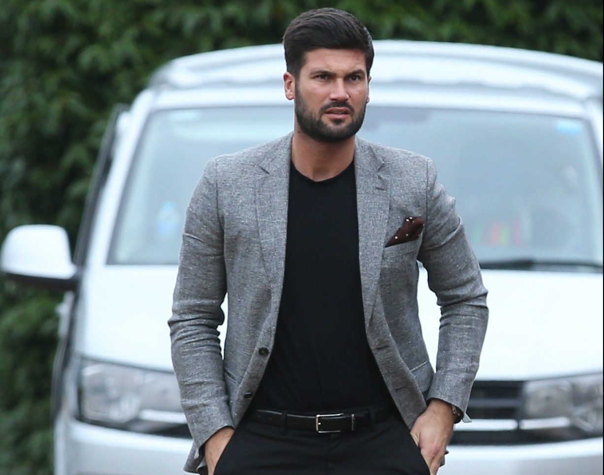 Dan Edgar looks dapper filming Towie hours after ex gets engaged to Rio Ferdinand