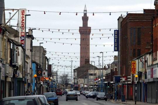 Freeman Street in Grimsby . REXMAILPIX.