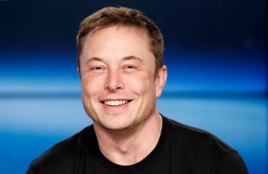 SpaceX founder Elon Musk smiles at a press conference following the first launch of a SpaceX Falcon Heavy rocket at the Kennedy Space Center in Cape Canaveral, Florida, U.S., February 6, 2018. REUTERS/Joe Skipper - HP1EE2700LUOA