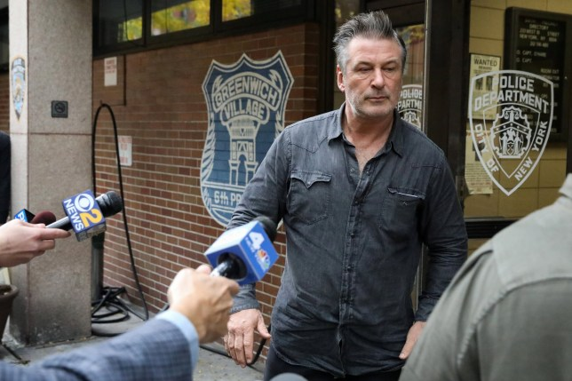 Actor Alec Baldwin exits the 6th precinct of the New York Police Department in Manhattan, New York, U.S., November 2, 2018. REUTERS/Andrew Kelly