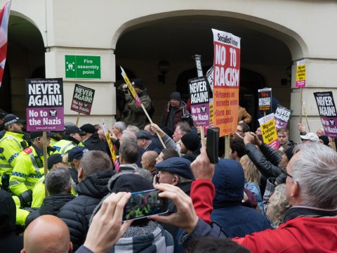 Far-right marchers 'chased out of city' by locals