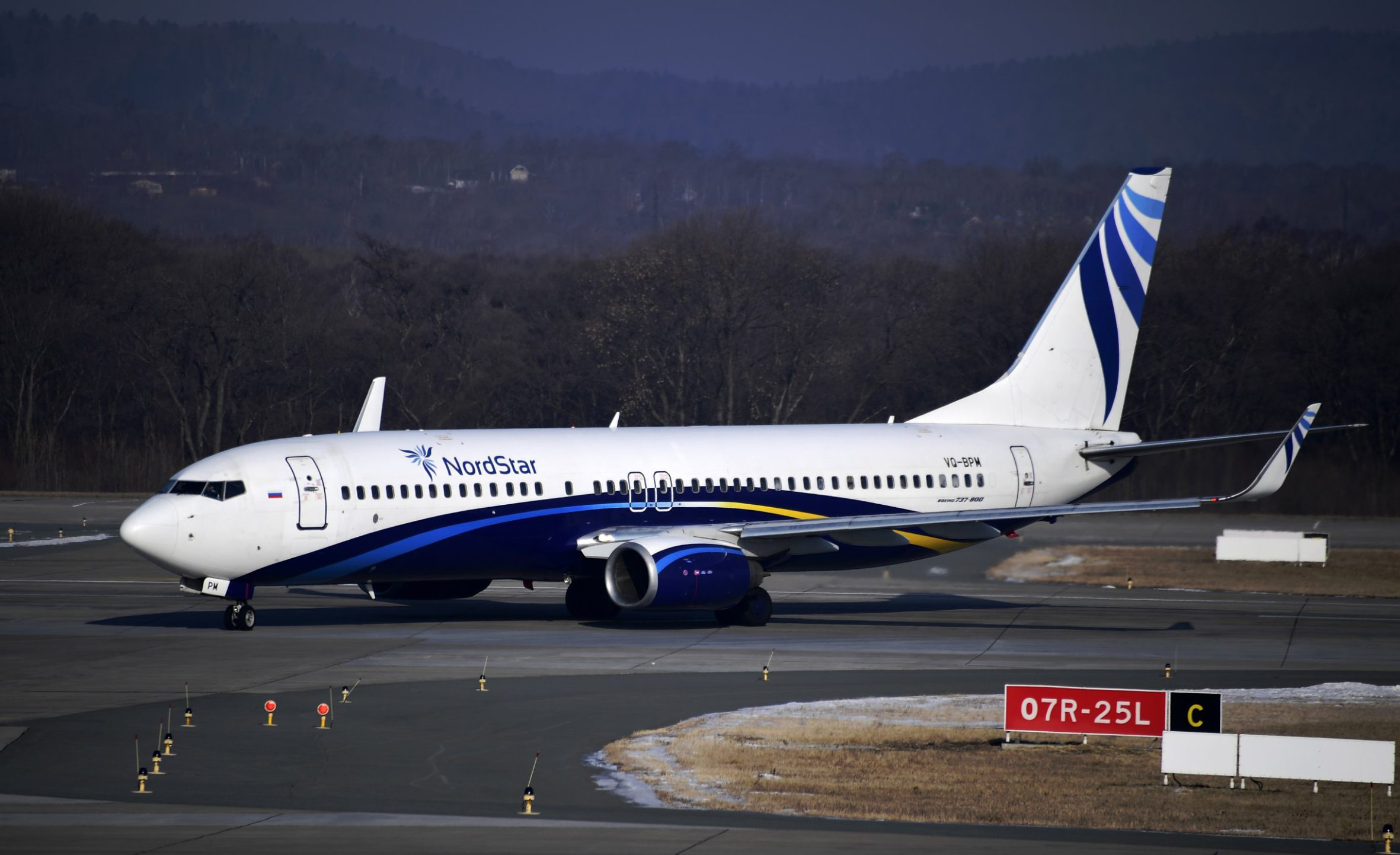 VLADIVOSTOK, RUSSIA ? FEBRUARY 9, 2018: Boeing 737-800 of the NordStar airline at the Vladivostok International Airport. Yuri Smityuk/TASS