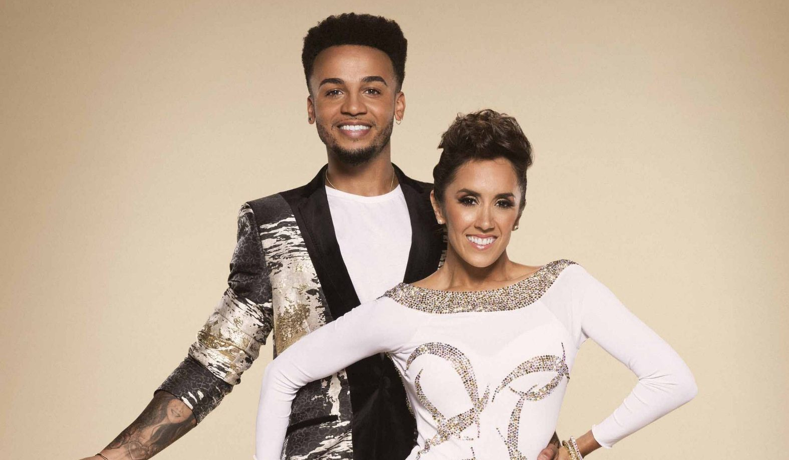 STRICTLY LAURA FOX Undated BBC handout photo of Janette Manrara with her celebrity partner Aston Merrygold who are appearing in this year's BBC1 dance contest, Strictly Come Dancing. PRESS ASSOCIATION Photo. Issue date: Tuesday September 19, 2017. See PA story SHOWBIZ Strictly. Photo credit should read: Ray Burmiston/BBC/PA Wire NOTE TO EDITORS: Not for use more than 21 days after issue. You may use this picture without charge only for the purpose of publicising or reporting on current BBC programming, personnel or other BBC output or activity within 21 days of issue. Any use after that time MUST be cleared through BBC Picture Publicity. Please credit the image to the BBC and any named photographer or independent programme maker, as described in the caption.