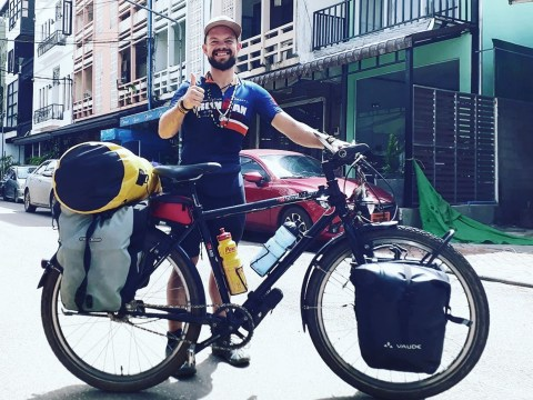 Disabled survivor of abuse is cycling around the world to give hope to others struggling