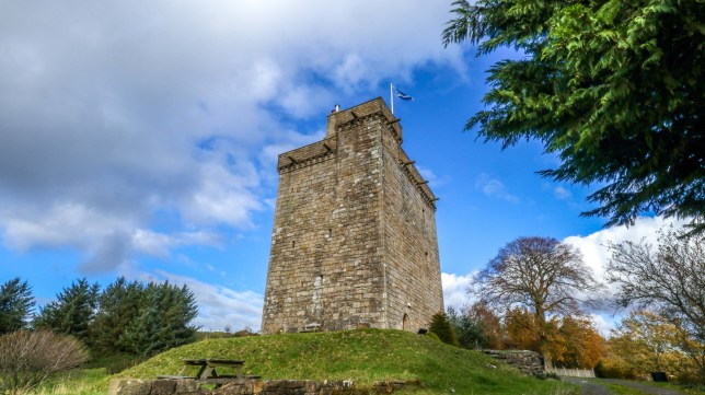 Exterior of the 600-year-old Mains Castle in East Kilbride that has links to Robert the Bruce - and is on sale for LESS THAN ??500,000.See SWNS story SWBRcastle. An incredible 600-year-old castle which has ten-feet deep walls and links to Robert the Bruce has been put on the market for less than ??500,000.Mains Castle dates from around 1450 and was first occupied in 1478 by Princess Euphemia Stewart and her new husband, David Lindsay, who was Provost of Glasgow. The property fell into dilapidation 200 years ago after being fired at by the Claverhouse Dragoons, with cannonball marks still visible on the lower castle walls.But the Victorians restored the East Kilbride castle in 1883, only for it to lose its roof in a 1922 storm, and be derelict until the 1970s.