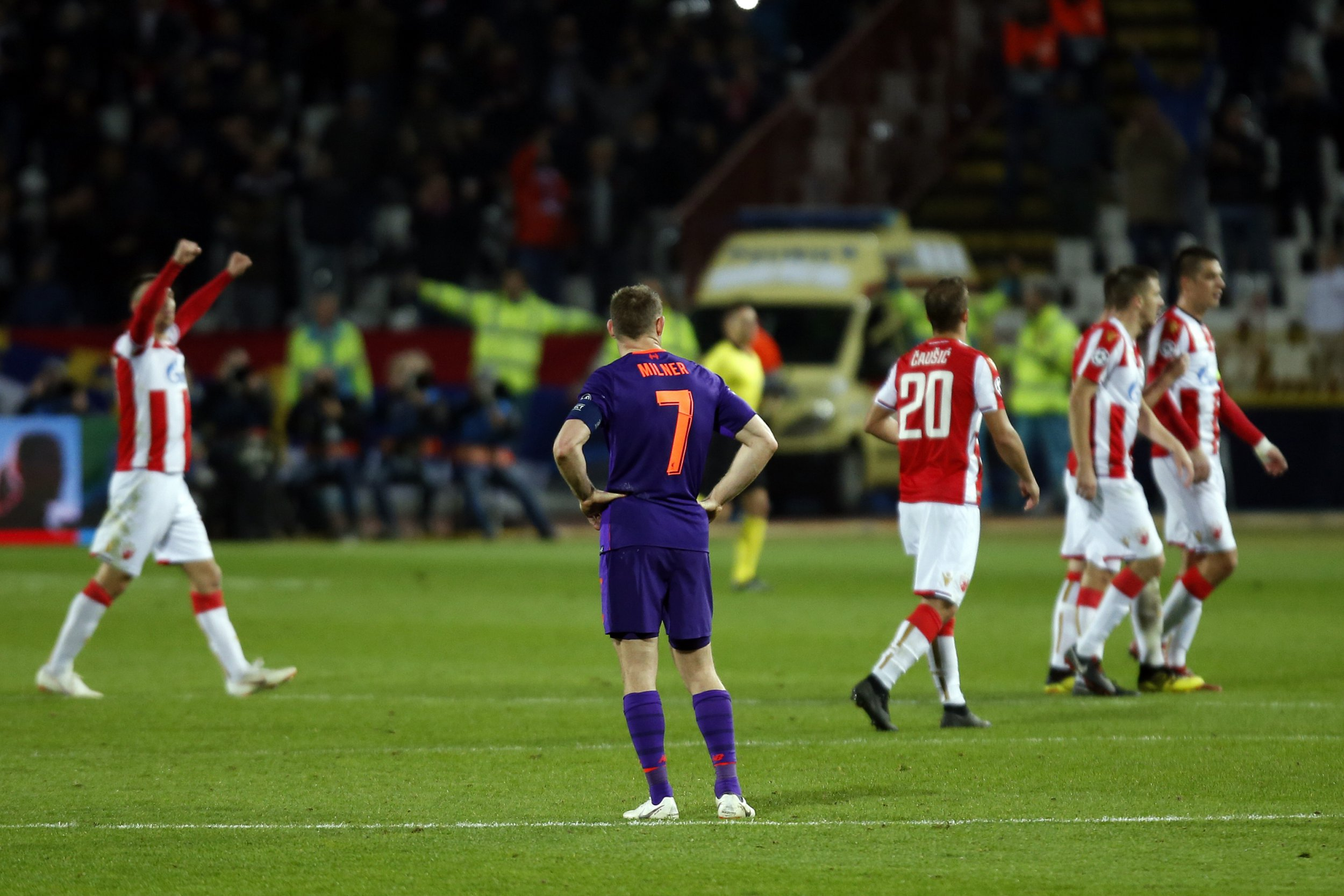 Liverpool skipper James Milner rues missed chances after humiliating defeat to Red Star Belgrade