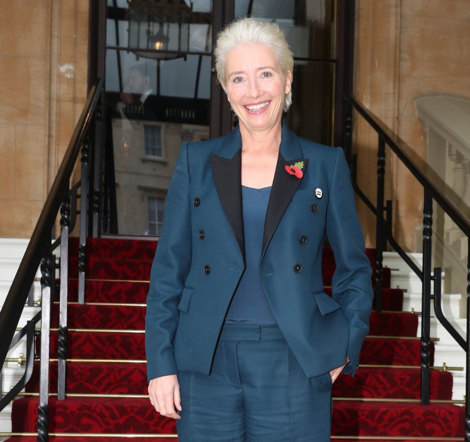 Actress Emma Thompson arrives at Buckingham Palace, London, to receive her damehood at an Investiture ceremony. PRESS ASSOCIATION Photo. Picture date: Wednesday November 7, 2018. Ms Thompson, 59, will collect the accolade in recognition of her services to drama. See PA story ROYAL Investiture. Photo credit should read: Steve Parsons/PA Wire